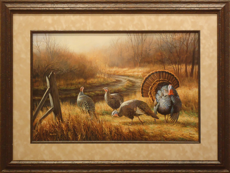 framed wildlife art: