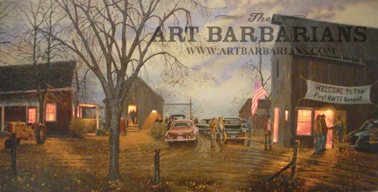 """Dave Barnhouse /"""" Coming Home/"""" Wild Turkey Farm Art Print Signed and Numbered"""
