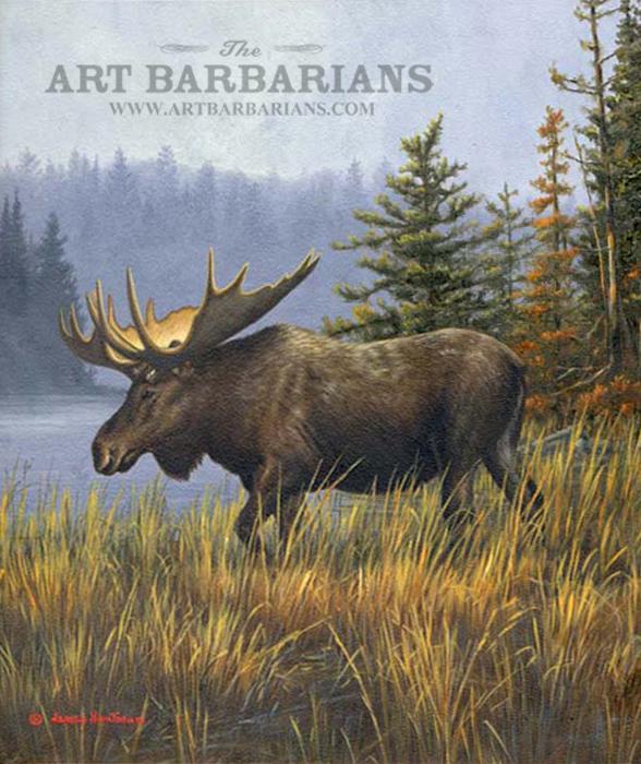 Paintings Of Moose - Defendbigbird.com