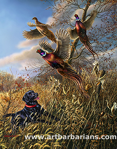 James Meger Pheasant print-ROYAL FLUSH