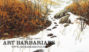 Doubled back grizzly bear by bev doolittle