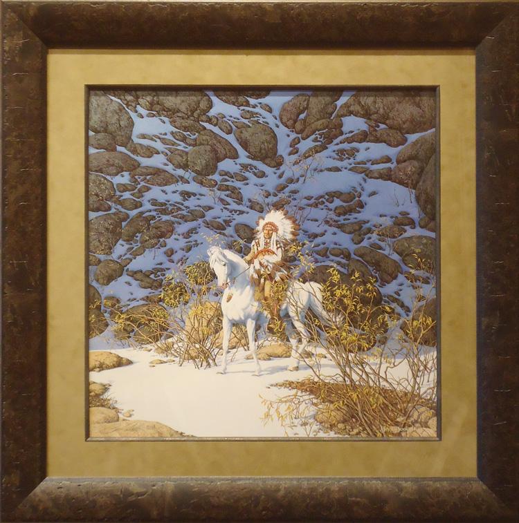 Eagle heart by bev doolittle framed