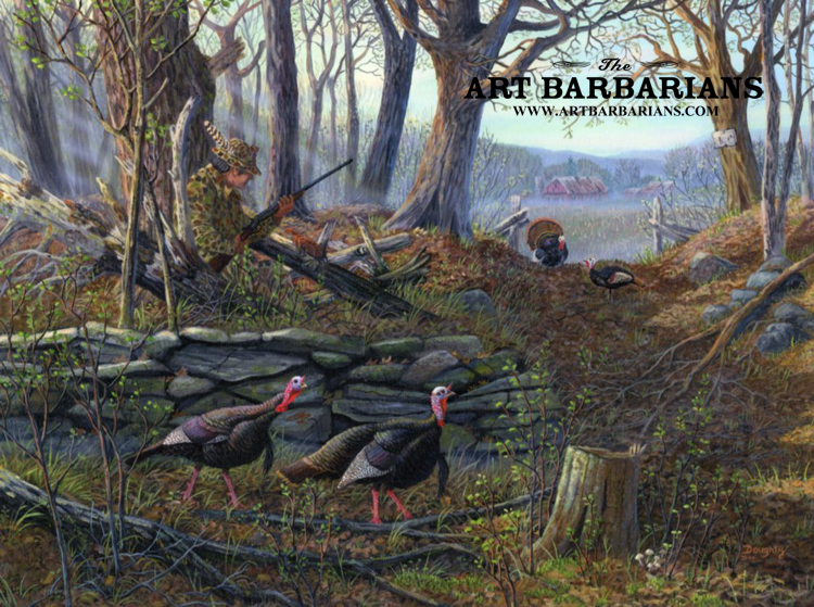 Turkey hunting paintings images for Large prints for sale