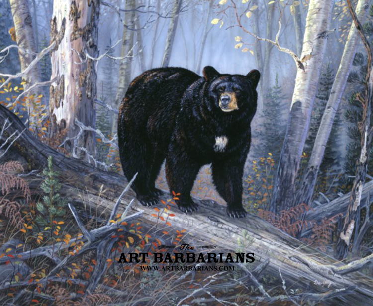 Black bear painting for Large photographic prints for sale