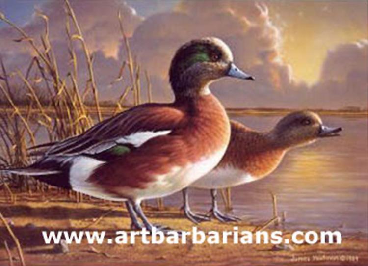 2 5 2016 518 PM 69249 1989 MN Duck Stamp Widgeon By Jim Hautman Small114213912