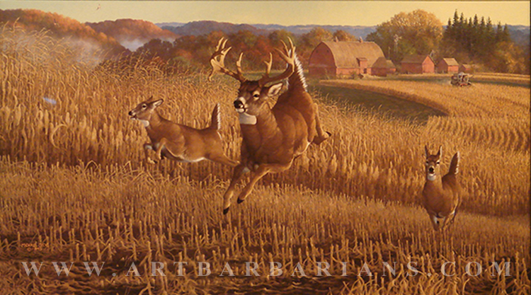 Beautiful Whitetail Deer Paintings - Defendbigbird.com