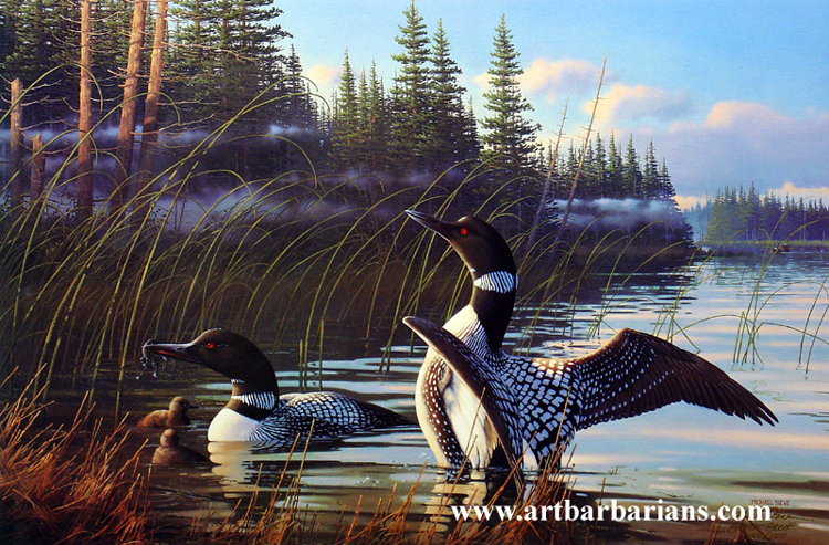 Loon painting - photo#20