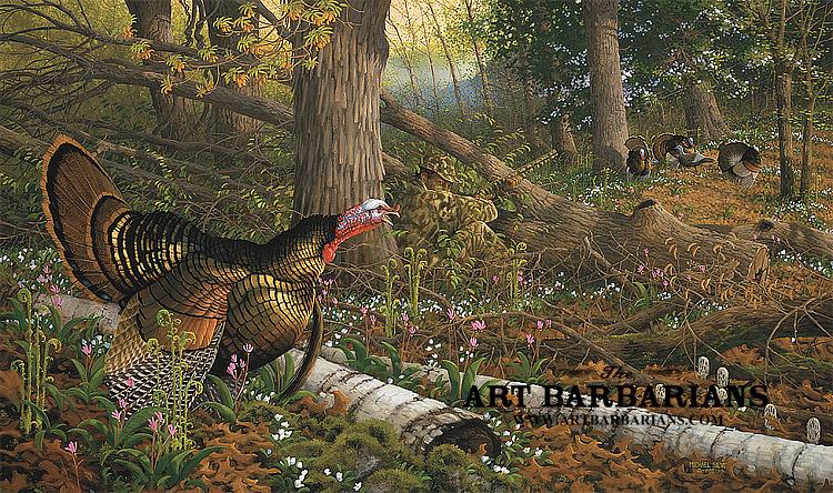 Wild Turkey Paintings Prints - Defendbigbird.com